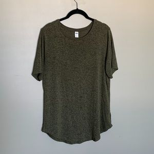 Old Navy Luxe olive green short sleeve tunic large